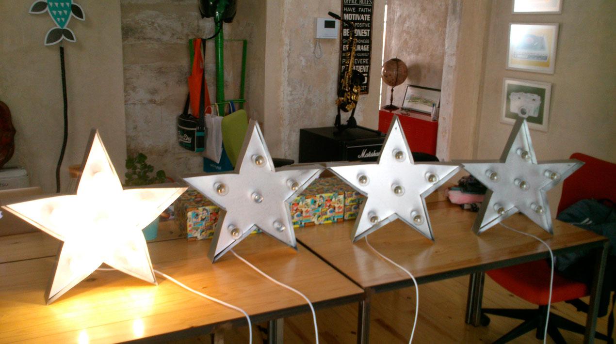Estrellas para decoración en Espacio Convento